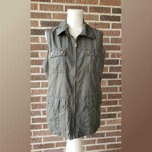 Liz Claiborne Arny Green Utility Vest